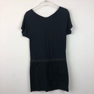 Theory Chera Black Drop Waist Dress